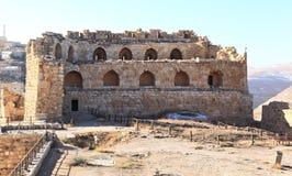 De Vesting van de Kerakkruisvaarder, Jordanië Stock Foto's