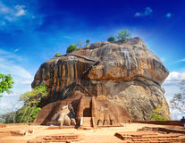 De Vesting van de Rots van Sigiriya, Sri Lanka Stock Foto
