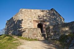 De vesting van Fredriksten in Halden (grote toren) Stock Foto