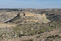 De Vesting van het Shawbakkasteel, Jordan Travel stock foto