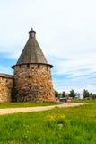 De vesting van het Solovezki-Klooster in Rusland stock foto