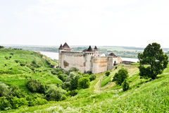 De vesting van Hotyn, de Westelijke Oekraïne royalty-vrije stock foto's