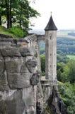 De vesting van Königstein Stock Fotografie