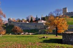 De vesting van Kalemegdan in Belgrado royalty-vrije stock fotografie