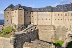 De vesting van Konigstein, Saksen (Duitsland) Stock Fotografie