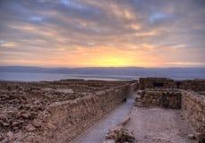 De vesting van Masada Stock Afbeelding