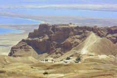 De vesting van Masada stock afbeeldingen