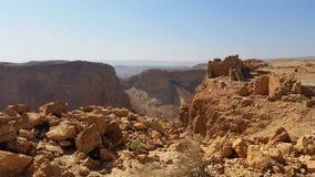 De vesting van Masada De woestijn van Judean stock foto