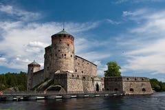 De vesting van Olavinlinna Stock Foto's