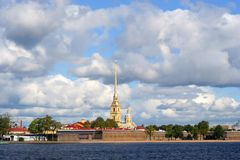 De vesting van Petropavlovskaya stock foto