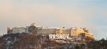 De Vesting van Rasnov in Brasov Provincie, Roemenië Royalty-vrije Stock Fotografie
