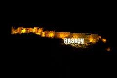 De Vesting van Rasnov in Brasov Provincie, Roemenië Stock Foto
