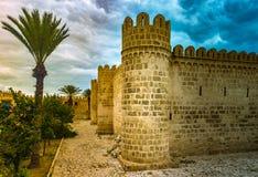 De vesting van Ribat van Sousse in Tunesië Stock Afbeelding