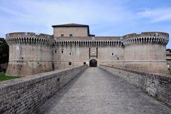 De vesting van Rocca Roveresca wordt gevestigd in Senigallia stock foto's