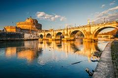 De vesting van Sant'Angelo, Rome Stock Afbeeldingen