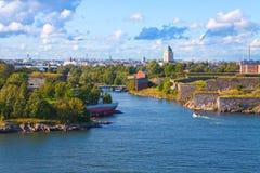 De vesting van Suomenlinna in Helsinki, Finland Royalty-vrije Stock Afbeeldingen