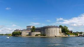 De vesting van Vaxholm, de archipel van Stockholm, Zweden Royalty-vrije Stock Foto's