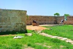 De vesting werd hersteld tijdens regeert van het Ottomaneimperium Akko israël royalty-vrije stock afbeelding