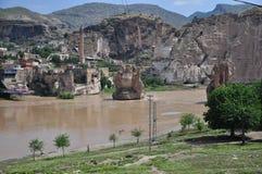 De vestingsmuur van de Byzantijnse vesting in de stad van Diyarbakir royalty-vrije stock afbeeldingen