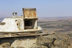 De vestingwerken op de grens met Syrië Royalty-vrije Stock Foto's