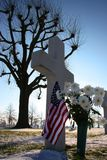 De veteranen kruisen, sterren en strepen stock fotografie