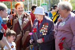 De veteranen op Victory Day op 9 Mei Royalty-vrije Stock Afbeelding