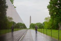 De Veteranengedenkteken van Vietnam in Washington DC door Maya Lin wordt ontworpen die royalty-vrije stock fotografie