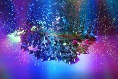 De vezelkabel dient met technologiestijl Stock Foto