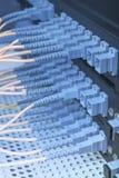 De vezelkabel dient met technologiestijl tegen optische vezel Royalty-vrije Stock Afbeeldingen