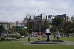 De Victoria opiniões do centro da cidade BC fotos de stock