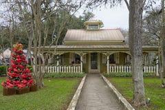 De Victoriaanse bouw van de architectuurstijl in Gruene Texas Royalty-vrije Stock Foto's