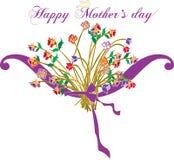De Victoriaanse Gelukkige Dag van de Moeder. royalty-vrije illustratie