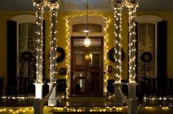De Victoriaanse Portiek van Kerstmis Royalty-vrije Stock Fotografie