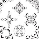 De victorian reeks van de decor aardige hoek vector illustratie