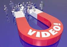 De video trekt het Verkeersmagneet 3d Illustra van Internet van het Klantenweb aan stock illustratie