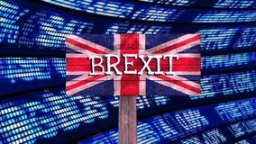 De Video van het Brexitteken stock footage