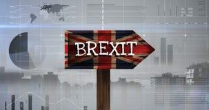 De Video van het Brexitteken stock videobeelden