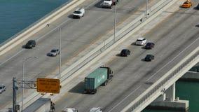 De video van Miami van de Macarthurbrug 4k stock videobeelden