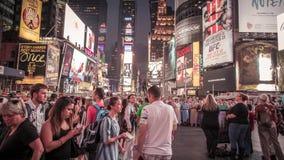 De video van de tijdtijdspanne van Time Square in NYC stock footage