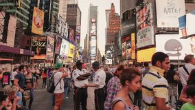 De video van de tijdtijdspanne van Time Square in NYC stock footage