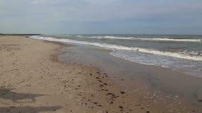 De video van Ventspils Letland van Oostzeegolven stock footage