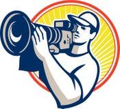 De Videocamera van cameramanfilm crew HD Stock Afbeelding