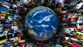 De Videodraaikolk van de aardebol stock videobeelden