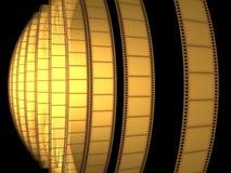 De VideoFilm van de bioskoop Stock Afbeeldingen
