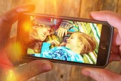 De Videoopslag van de wolkenfoto Royalty-vrije Stock Afbeelding