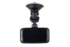 De videorecorder van de autocamera op witte achtergrond wordt geïsoleerd die Royalty-vrije Stock Foto