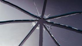 De vidro riscado quebrado em partes Fim acima filme