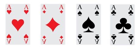 De vier azen van pook Royalty-vrije Stock Foto's