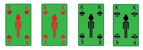 De vier groene koningen Stock Foto