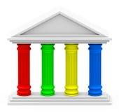 De vier-pijler strategie Stock Afbeeldingen